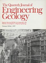 Quarterly Journal of Engineering Geology and Hydrogeology: 10 (3)