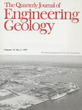 Quarterly Journal of Engineering Geology and Hydrogeology: 12 (2)