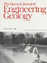 Quarterly Journal of Engineering Geology and Hydrogeology: 13 (1)