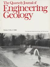 Quarterly Journal of Engineering Geology and Hydrogeology: 13 (2)