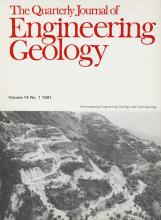 Quarterly Journal of Engineering Geology and Hydrogeology: 14 (1)