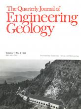 Quarterly Journal of Engineering Geology and Hydrogeology: 17 (2)