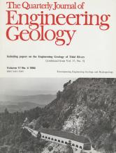 Quarterly Journal of Engineering Geology and Hydrogeology: 17 (4)