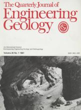 Quarterly Journal of Engineering Geology and Hydrogeology: 20 (1)