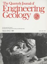 Quarterly Journal of Engineering Geology and Hydrogeology: 20 (2)