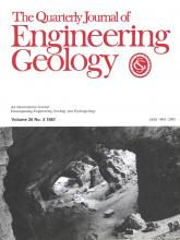 Quarterly Journal of Engineering Geology and Hydrogeology: 20 (3)