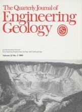 Quarterly Journal of Engineering Geology and Hydrogeology: 22 (2)