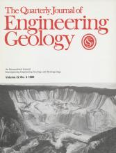 Quarterly Journal of Engineering Geology and Hydrogeology: 22 (3)