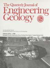 Quarterly Journal of Engineering Geology and Hydrogeology: 23 (1)