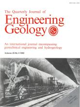 Quarterly Journal of Engineering Geology and Hydrogeology: 25 (4)