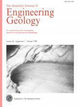 Quarterly Journal of Engineering Geology and Hydrogeology: 28 (Supplement 1)