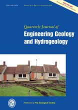 Quarterly Journal of Engineering Geology and Hydrogeology: 39 (4)