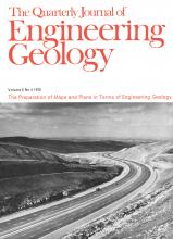 Quarterly Journal of Engineering Geology and Hydrogeology: 5 (4)