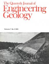 Quarterly Journal of Engineering Geology and Hydrogeology: 7 (2)