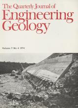 Quarterly Journal of Engineering Geology and Hydrogeology: 7 (4)